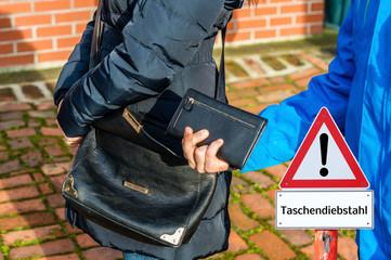 Geldbörse Diebstahl Taschendiebstahl in Deutschland