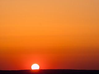 die Sonne geht unter im Vogtland