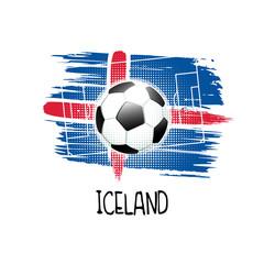 Soccer-Football Concept. Iceland.