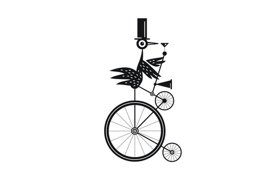 Funky Bird on a Unicycle