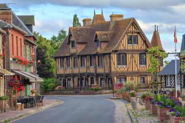 Maison normande à Beuvron-en-Auge, Calvados, Normandie