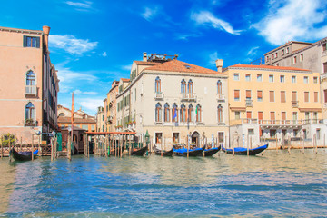 Beautiful views of the Grand Canal in Venice, Italy