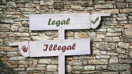 Schild 378 - Legal