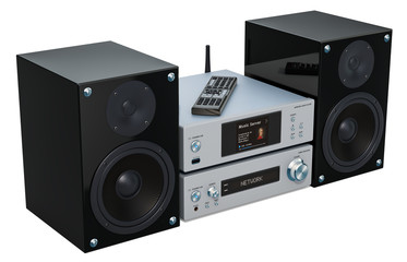 Home Stereo System, 3D rendering