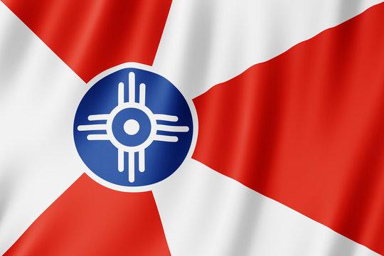 Flag of Wichita city, Kansas (US)