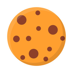 Simplistic cookie icon. Flat design. Isolated on white