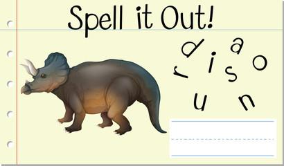 Spell it out dinosaur