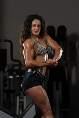 Young Sporty Fit Caucasian Female Model Posing