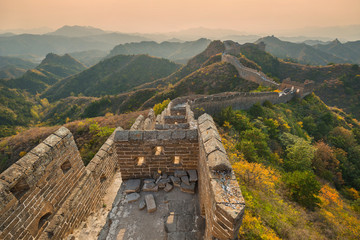 The famous great wall of China - Jinshanling section