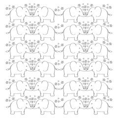 Cute Elephant pattern background