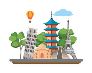 world landmarks icon
