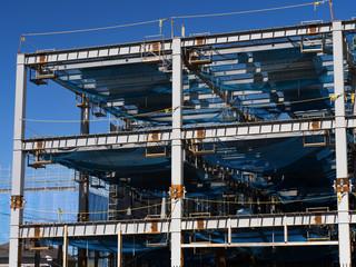 ビルの建設現場
