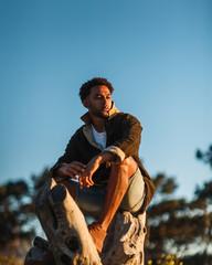 Man enjoying the outdoors