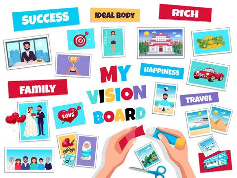 Dreams Vision Board Concept