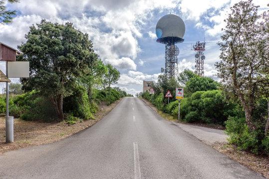 Antenne Relais Strasse Strahlung Baum Mallorca