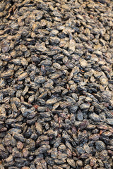 Raisins as background Grape Raisin texture
