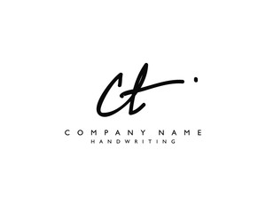 C T Initial handwriting logo
