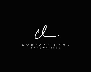 C L Initial handwriting logo