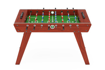 Soccer Table Football Game. 3d Rendering