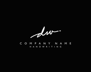 D W Initial handwriting logo