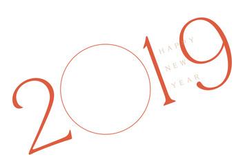 年賀状 2019 フォトフレーム レッド