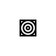 Square Stripes Vector Logo Letter O