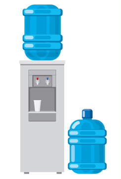 water cooler with full bottle