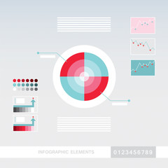 Business infographics elements template. Modern,abstract,simple flat design style. Vector illustration