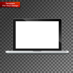 Modern glossy laptop isolated