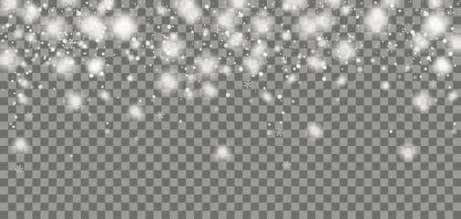 Fototapeta Snowfall Header Transparent obraz