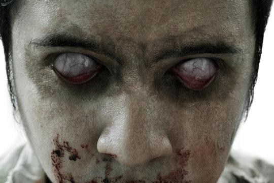 Scary zombie eyes