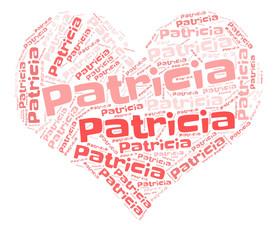 Patricia word cloud in heart shape