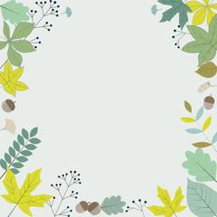 Autumn background design with natural elements
