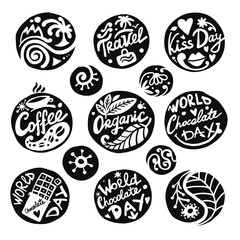 Circle icons set, sketch for your design
