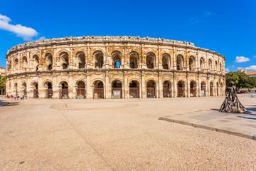 les arènes de Nîmes, Gard, Occitanie, France