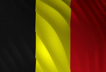 Illustration of a flying Belgian flag