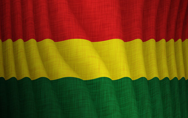 Illustration of a flying Bolivian flag