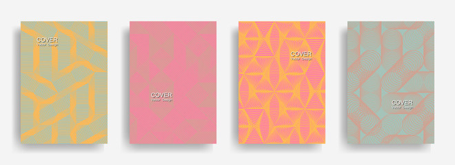 Modern halftone shapes minimal geometric covers