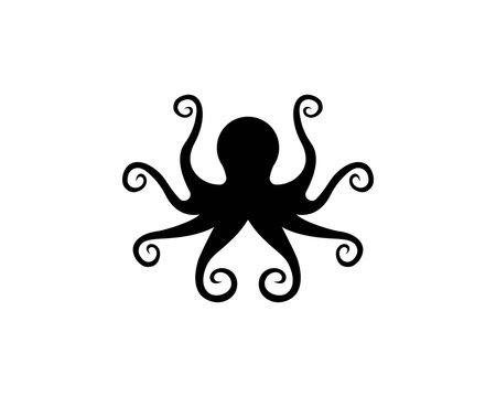 Octopus. Logo. Vector illustration
