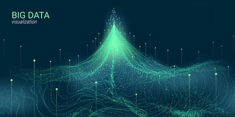 Abstract 3D Big Data Visualization. Wall mural