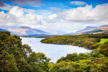 Loch Lomond and the Trossachs National Park from Craigiefort, Scotland