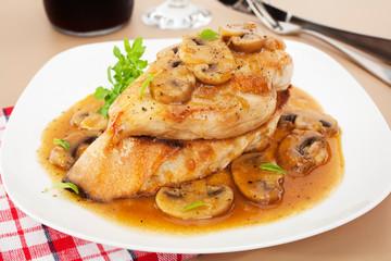 Chicken Marsala Italian Food