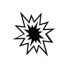 Explosion Icon , logo on a white background