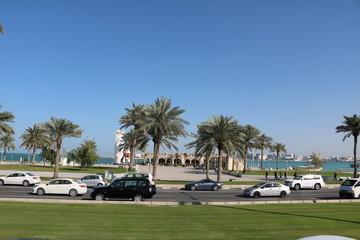 The Doha Corniche, Katar am Arabischen Golf