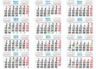 calendario 2019 santos España