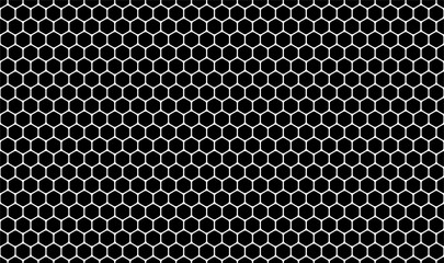 Vector illustration of the pattern of white line polygon style on black background.