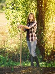 Portrait of farmer on a field