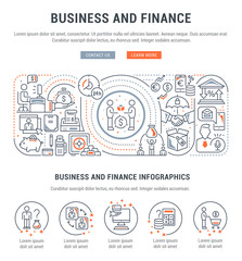 Vector Banner of Business and Finance.