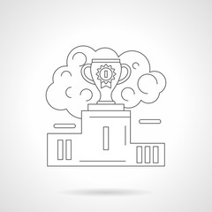 First place cup detailed line vector illustration