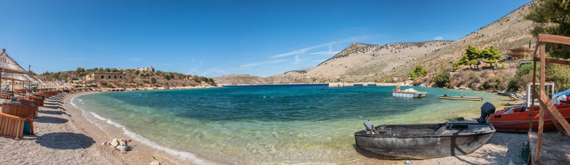 Foto auf Leinwand Palermo Porto Palermo bay on a sunny day in Albania